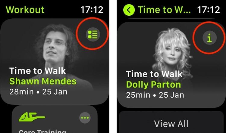 حان الوقت للمشي Apple Watch Workout App Layout