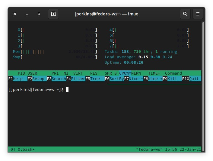Tmux Vs Screen Tmux Split Vertical 1