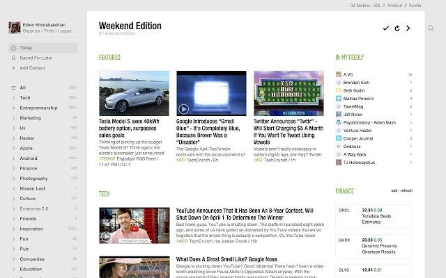 4 أفضل قارئ RSS Feedly