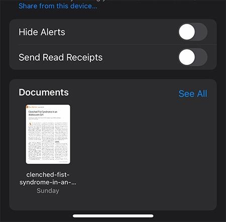 حفظ ملفات الرسائل ملفات المستندات