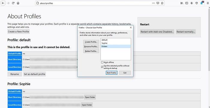 كيفية إنشاء ملفات تعريف مستخدم جديدة Firefox Chrome اختر ملف تعريف المستخدم بسهولة