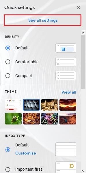 كيفية تعطيل عرض محادثة Gmail انظر جميع الإعدادات
