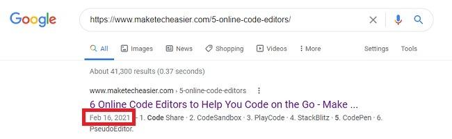 كيف تعرف متى تم نشر صفحة ويب على Google