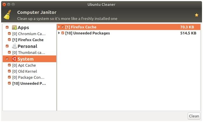 أدوات تنظيف نظام Linux منظف Ubuntu