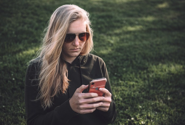 Sms Messages Redirected Woman