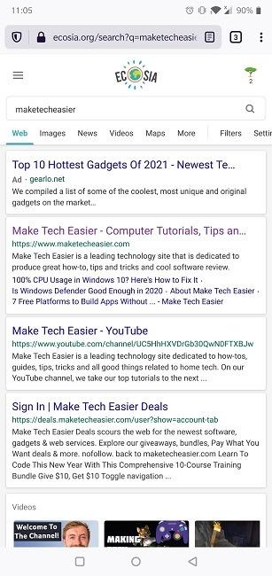 Cara Mengganti Search Engine Default Search Engine Android Ecosia Default Search Engine