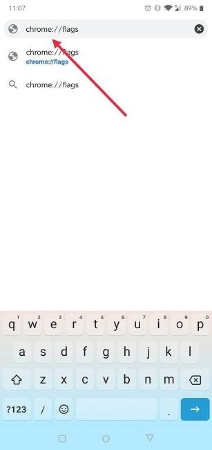 क्रोम मोबाइल फ्लैग की सूची को बाद में कैसे जोड़ें
