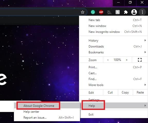 Cách khắc phục lỗi thiếu bộ nhớ cache Err trong phần trợ giúp của Chrome