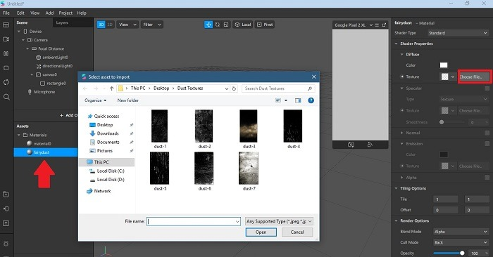 Cara Membuat Filter Instagram Kustom Pilih File