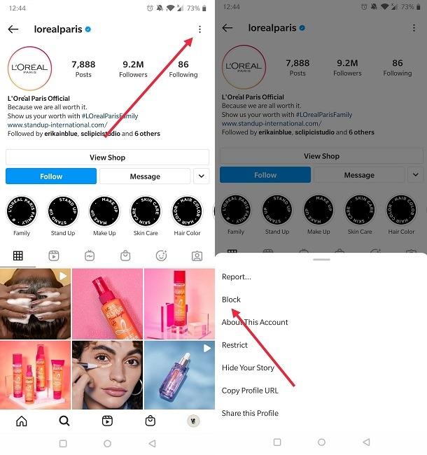 कैसे उपयोगकर्ताओं को रोकने के लिए आप Instagram ब्लॉक खाता ढूँढना
