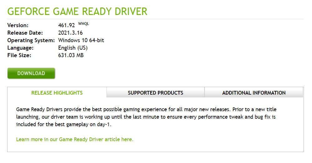 नवीनतम Nvidia ड्राइवर अपडेट करें
