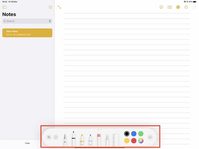 توصيف Ipad ملاحظة توضيحية