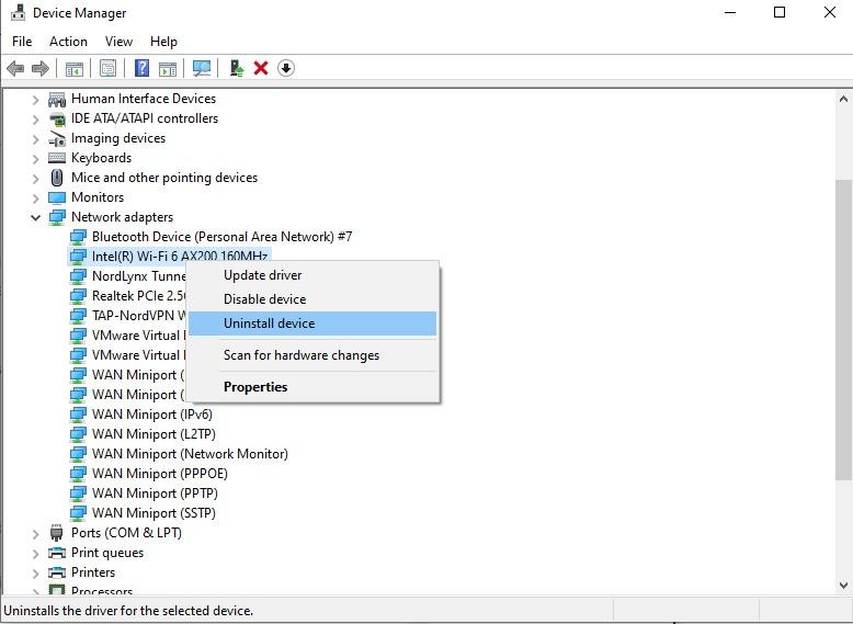Không có Internet Trình điều khiển Windows 10 được bảo mật