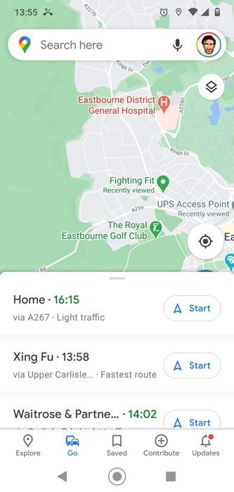 Google मैप्स पिन किए गए रूट को सेव करें