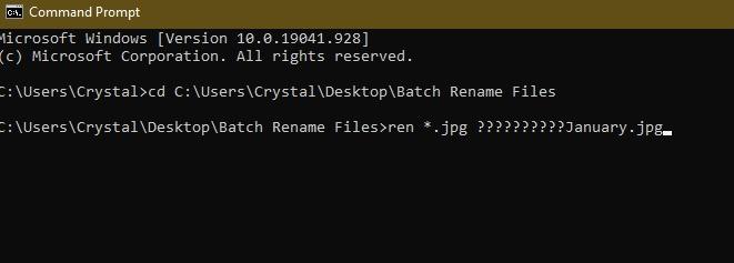 विंडोज एक्सप्लोरर सीएमडी सीडी नाम में फ़ाइलों का नाम बदलने के लिए 3 तरीके