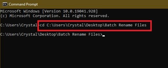 विंडोज एक्सप्लोरर सीएमडी सीडी में फ़ाइलों का नाम बदलें 3 तरीके
