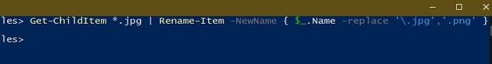 विंडोज एक्सप्लोरर पॉवर्सशेल का नाम बदलें एक्सटेंशन में बैच फ़ाइलों का नाम बदलने के 3 तरीके
