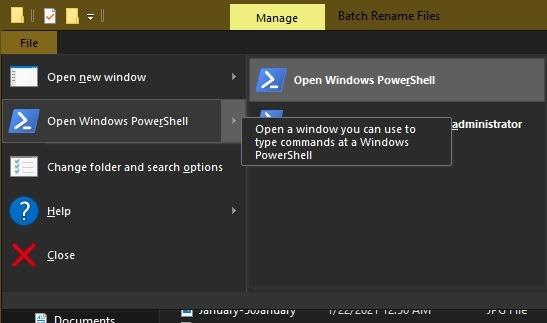 विंडोज एक्सप्लोरर पॉवर्सशेल में रीनेम फाइलों को बैचने के 3 तरीके