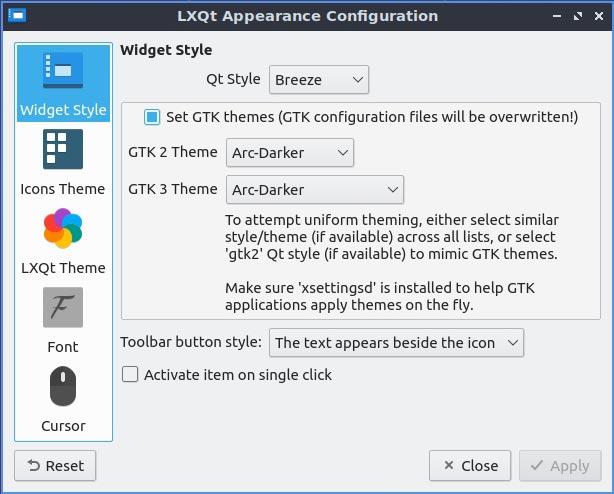 Lubuntu 20 10 Mte مراجعة نمط القطعة