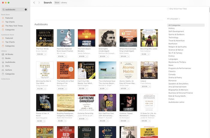 सर्वश्रेष्ठ श्रव्य विकल्प Apple पुस्तकें