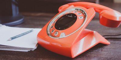 A vintage telephone.