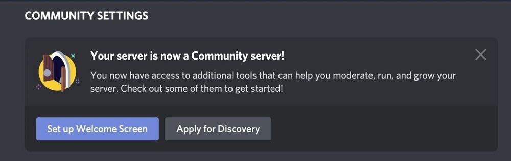 समुदाय सर्वर चरण चैनल त्यागें
