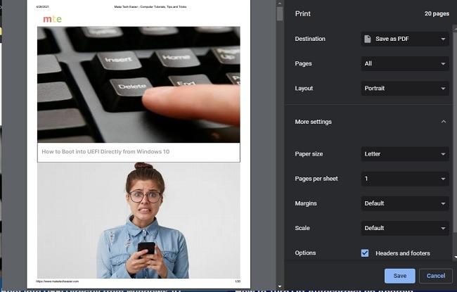 كيفية تمكين تعطيل معاينة الطباعة لميزة معاينة الطباعة في Google Chrome