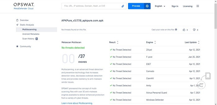 How To Scan Apk Files For Virus Metadefender