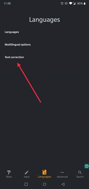 كيفية إيقاف تشغيل التصحيح التلقائي لتصحيح نص Android Chrooma