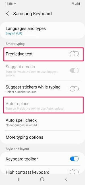 كيفية إيقاف تشغيل التصحيح التلقائي لاستبدال Android Samsung Auto