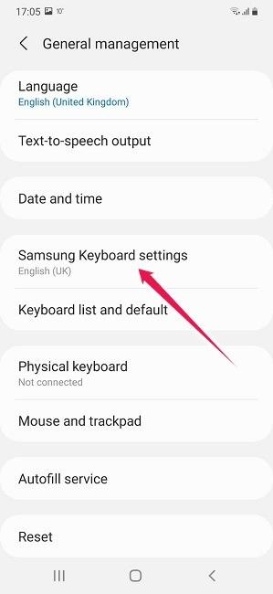 كيفية تشغيل إيقاف التصحيح التلقائي لإعدادات لوحة مفاتيح Android Samsung