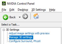 Nvidia و AMD Anti Lag Nvidia الخطوة 1