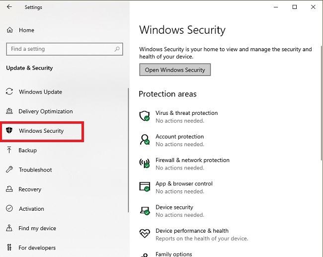 يجب عليك تعطيل عملية تنفيذ خدمة مكافحة البرامج الضارة أمن Windows