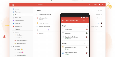 The Todoist home page