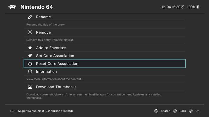 Ultimate Guide N64 Emulation Retroarch Reset Core Association