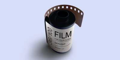A roll of film.
