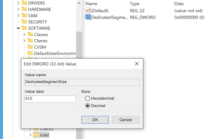 Adding a new key to the Windows Registry.