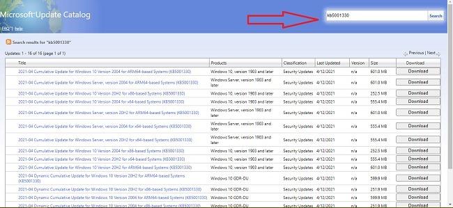 ما هو كتالوج Microsoft Update وكيفية استخدامه في البحث