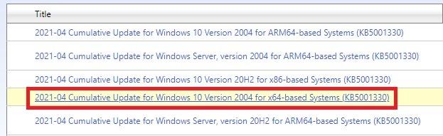 ما هو كتالوج Microsoft Update وكيفية استخدامه الإصدار