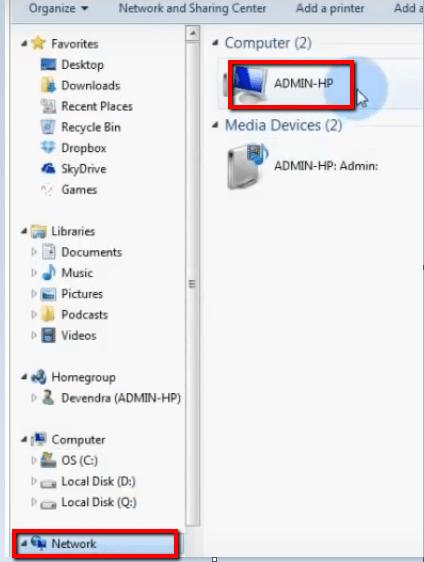 اتصال كبل Windows 10 LAN