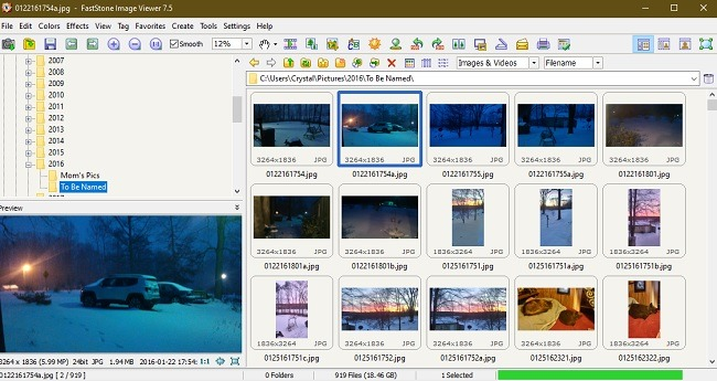 विंडोज 10 तस्वीरें विकल्प फास्टस्टोन