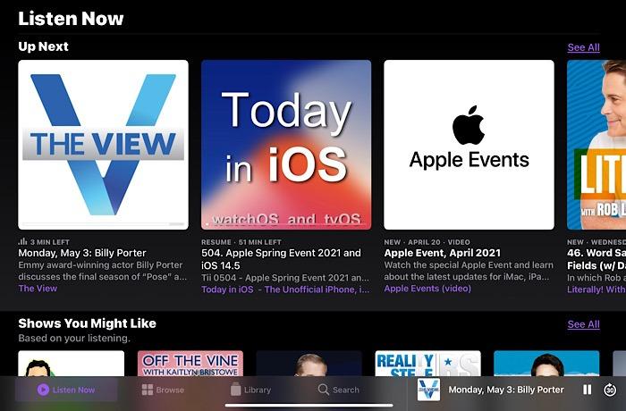 تطبيق Apple Podcasts ثابت