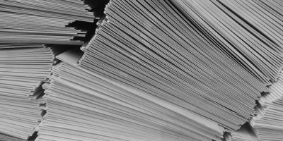 A stack of letters.
