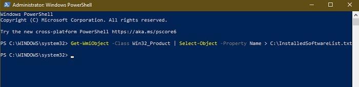 كيفية الحصول على قائمة بجميع البرامج المثبتة على نظام Windows Powershell