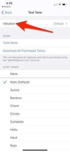 اهتزاز رسائل Iphone الصادرة