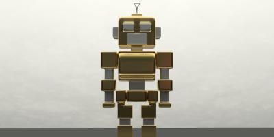 A toy robot.