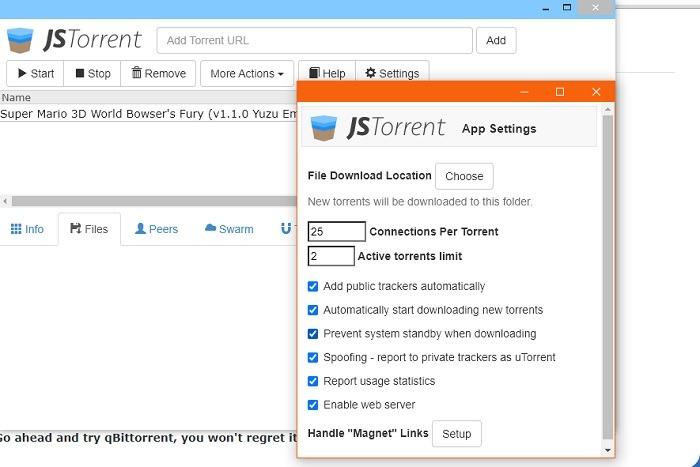 متصفح الروابط المغناطيسية أضف Torrent Add Jstorrentjpg