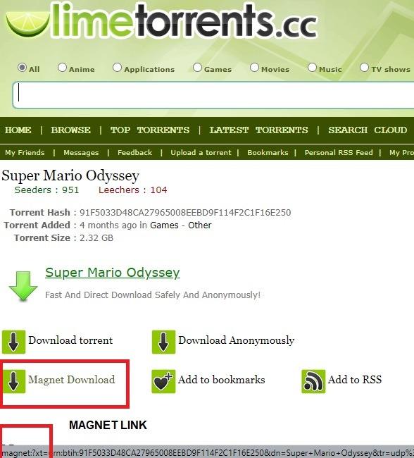 Magnet Links Browser رابط المغناطيس الرئيسي