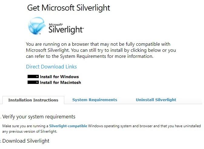 Windows إلغاء تثبيت Microsoft Silverlight على الفور