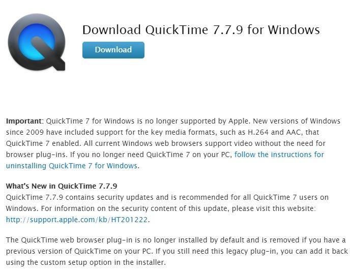 إلغاء تثبيت Windows فورًا Quicktime